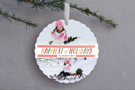 Happiest Holiday Ornament Cards
