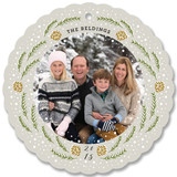 Snowy Pine Wreath by Lehan Veenker