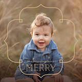 Deco Frame Holiday Ornament Cards