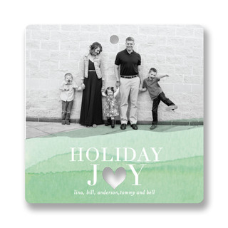 Dip Heart Holiday Ornament Cards
