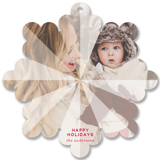 Facet Holiday Ornament Cards
