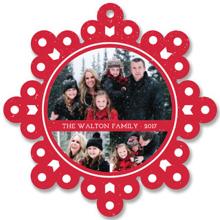 Speckle Flake Holiday Ornament Cards