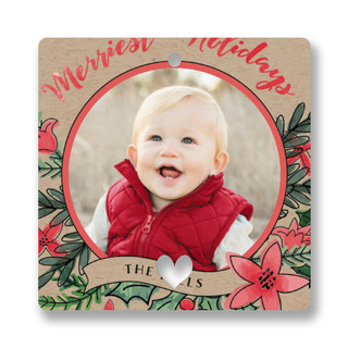 Merriest Holidays Holiday Ornament Cards