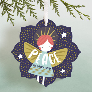 glitter angel Holiday Ornament Cards