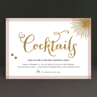 Holiday Bling Holiday Party Invitations