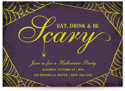 Spirited Halloween Holiday Party Invitations