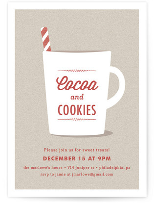 Cocoa & Cookies Holiday Party Invitations