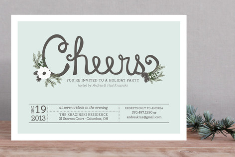 Charming Cheers Holiday Party Invitations