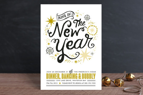 New Year's Sparkle Holiday Party Invitations