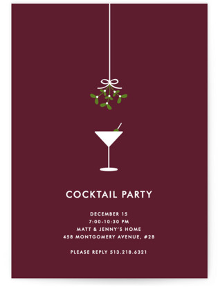 Cocktail Party Holiday Party Invitations