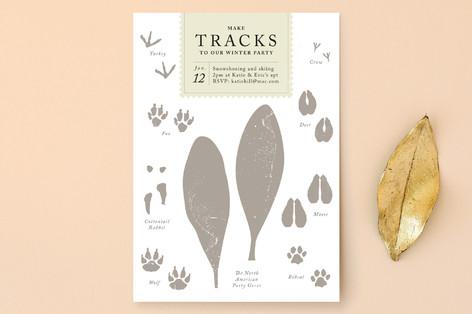 Make Tracks Holiday Party Invitations