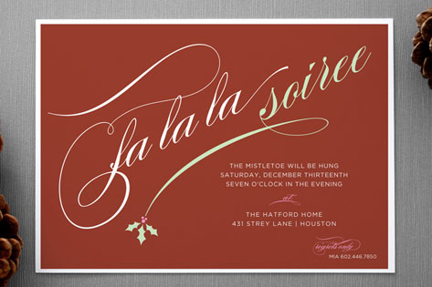 Holly Soiree Holiday Party Invitations