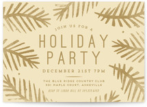 Festive Firs Holiday Party Invitations
