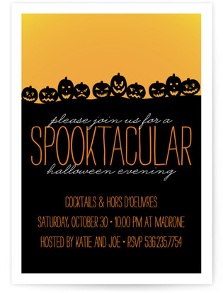 Spooktacular Holiday Party Invitations