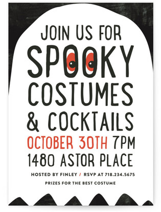 Spooky Holiday Party Invitations