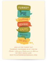 Turkey Day Menu