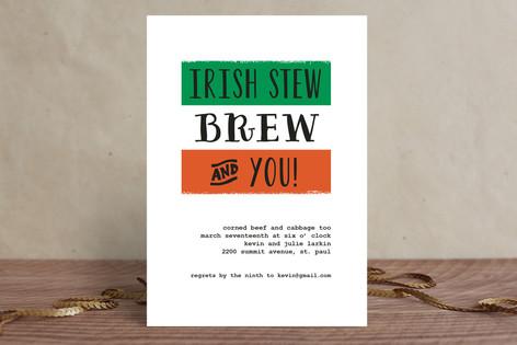 Irish Stew Holiday Party Invitations