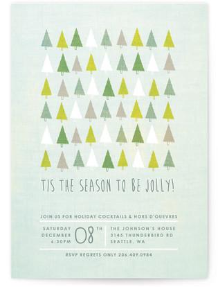 Jolly Trees Holiday Party Invitations