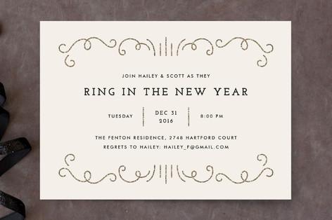 Glitzy New Year Holiday Party Invitations
