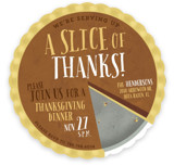 A Slice Of Thanks Holiday Party Invitations