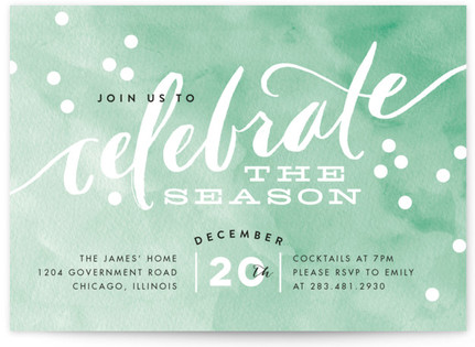 Painted Celebration Holiday Party Invitations