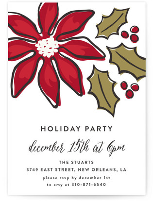 Florals Holiday Party Invitations