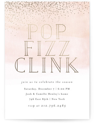 Cocktail Dress Holiday Party Invitations