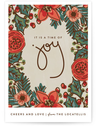 Joy Cheer and Love Holiday Postcards