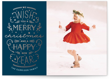 Merry Christmas Happy Year Holiday Postcards