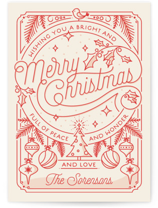 Merry Little Lines Holiday Postcards