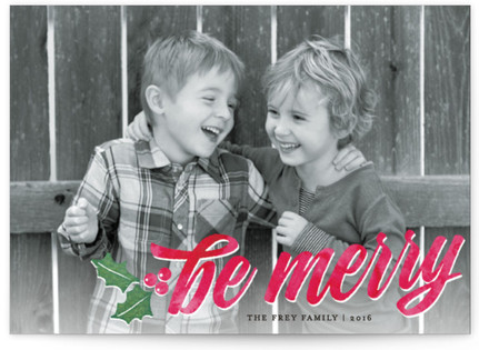 Merry Watercolor Holiday Postcards