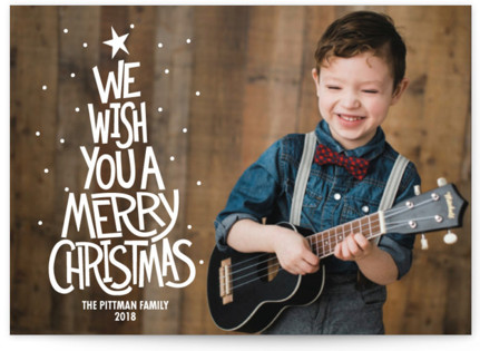 Retro Worded Tree Holiday Postcards