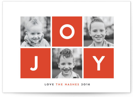 Vibrant Joy Holiday Postcards
