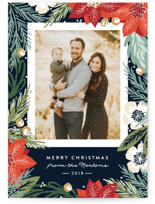 Winter Botanicals Holiday Postcards