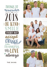New Year's Sentiment Holiday Postcards