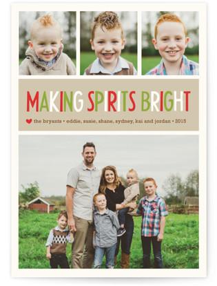 Making Spirits Bright Holiday Postcards
