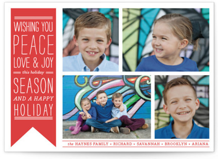 Wish Banner Holiday Postcards