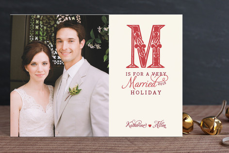 M is for Married Holiday Postcards