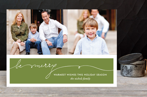 Be Merry Handwriting Holiday Postcards