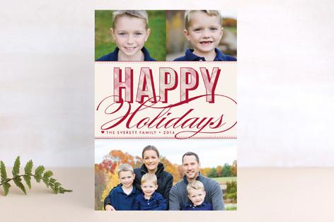 Christmas Plaid Holiday Postcards