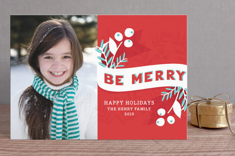 Be Merry Berries Holiday Postcards