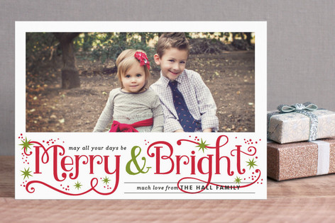 Merry and Bright Sparkles Holiday Postcards