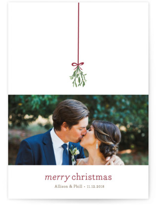 Mistletoe Kiss Holiday Postcards