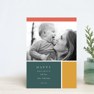 Color Block Holiday Postcards