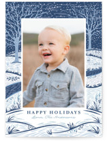 Snowy Day Holiday Postcards