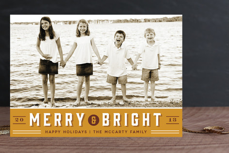 Retro Merry Holiday Postcards