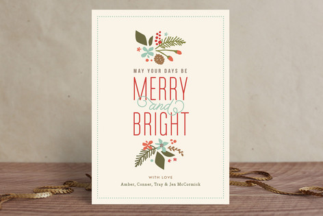 Brightly Merry Holiday Postcards