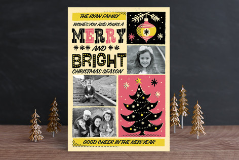 Retro Whimsical Poster Holiday Postcards