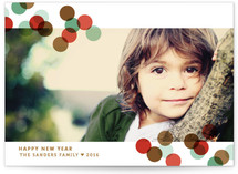 Confetti Toss Holiday Postcards