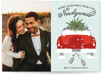 Newlywed Christmas Holiday Postcards